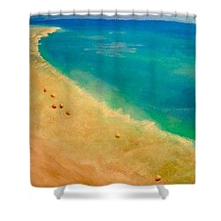 Lumbarda Shower Curtain