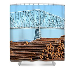 Lumber Mill In Rainier Oregon Shower Curtain