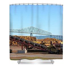Lumber Mill Machinery In Rainier Oregon Shower Curtain
