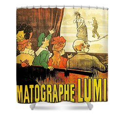 Lumiere Cinematographe Shower Curtain by Georgia Fowler