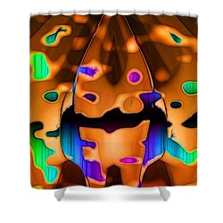 Shower Curtain featuring the digital art Luminence by Ron Bissett