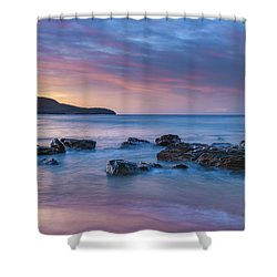 Luminescent Sunrise Seascape Shower Curtain