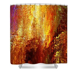 Luminous - Abstract Art Shower Curtain by Jaison Cianelli
