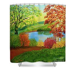 Luminous Colors Of Fall Shower Curtain