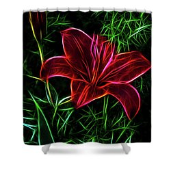 Luminous Lily Shower Curtain