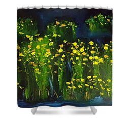 Lumonious Buds     17 Shower Curtain