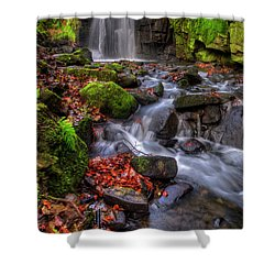 Shower Curtain featuring the photograph Lumsdale Falls 4.0 by Yhun Suarez