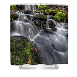 Shower Curtain featuring the photograph Lumsdale Falls 5.0 by Yhun Suarez
