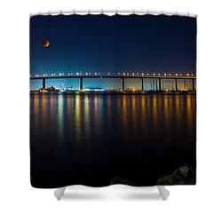 Luna Shower Curtain by Ryan Weddle