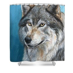 Shower Curtain featuring the painting Luna by Sherry Shipley