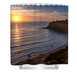 Lunada Bay Sunset Shower Curtain