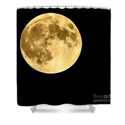 Lunar Close Up Shower Curtain by Sandy Molinaro