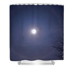 Lunar Corona Shower Curtain