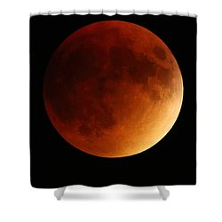 Shower Curtain featuring the photograph Lunar Eclipse 1 by Coby Cooper