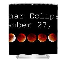 Lunar Eclipse Shower Curtain