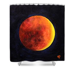 Lunar Eclipse Shower Curtain by Marina Petro