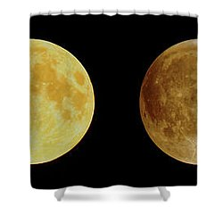 Lunar Eclipse Progression Shower Curtain