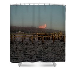 Lunar Eclispe  Shower Curtain