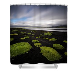 Lunar Moss Shower Curtain