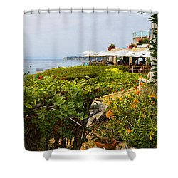 Shower Curtain featuring the photograph Lunch At Geoffrey's Of Malibu by Glenn McCarthy Art and Photography