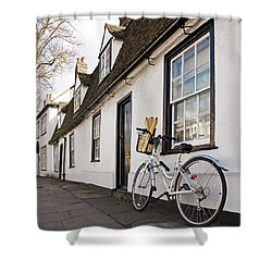 Shower Curtain featuring the photograph Lunch French Style By Bicycle In Cambridge by Gill Billington