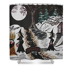 Shower Curtain featuring the painting Lunch by Jeffrey Koss