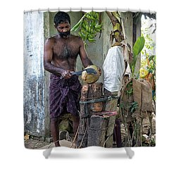 Lunch Shower Curtain by Marion Galt