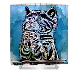Lunch Time. Shower Curtain