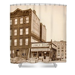 Shower Curtain featuring the photograph Lunchroom  by Cole Thompson
