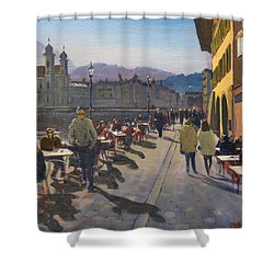 Lunchtime In Luzern Shower Curtain