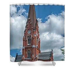 Shower Curtain featuring the photograph Lund All Saints Church by Antony McAulay