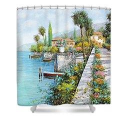 Lungolago Shower Curtain by Guido Borelli