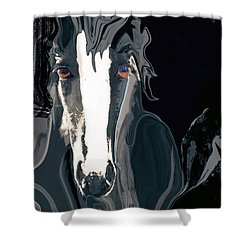 Lungta Windhorse No. 2-energy Shower Curtain
