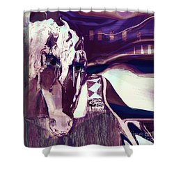 Lungta Windhorse No 5 Shower Curtain