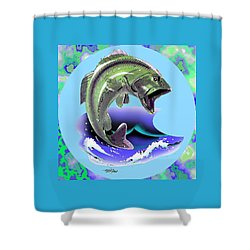 Lunker Shower Curtain