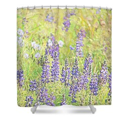 Shower Curtain featuring the photograph Lupine Wildflowers Montana by Jennie Marie Schell