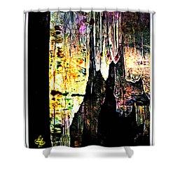 Luray Cavern Abstract 2 Shower Curtain by Lynda Payton