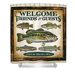 Lure Three Piece Panels Shower Curtain