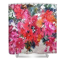 Luscious Bougainvillea Shower Curtain