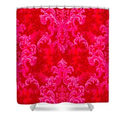 Luscious Neo Baroque Hot Pink Bubblegum Damask Shower Curtain