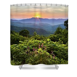 Lush Sunset In June Shower Curtain by Deborah Scannell