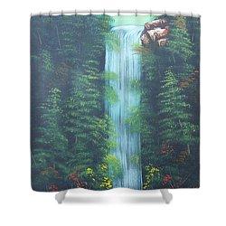 Lush Waterfall Shower Curtain