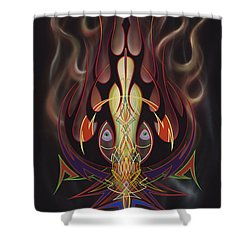 Lust Shower Curtain by Alan Johnson