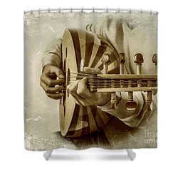 Grey Lutenist Shower Curtain