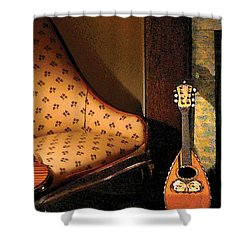 Lute Shower Curtain by Susan Savad
