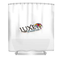 Luxe Logo 3d 2 Shower Curtain