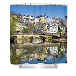 Luxembourg City Shower Curtain by JR Photography