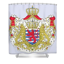 Luxembourg Coat Of Arms Shower Curtain by Movie Poster Prints