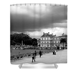 Luxembourg Gardens 2bw Shower Curtain