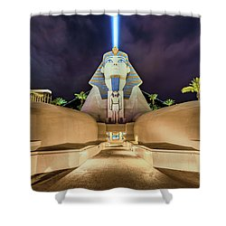 Luxor Casino Egyptian Sphinx Las Vegas Night Shower Curtain